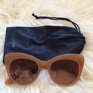 J Crew Factory Cat-Eye Sunglasses with Case